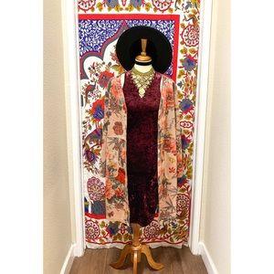🌈 Stylish velvet body dress